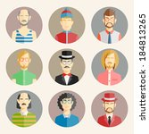avatars,bald,balding,beard,blond,brown,casual,choice,circular,clean-shaven,dapper,design,different,element,faces