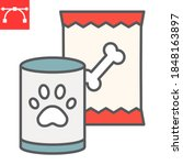 pet food color line icon  tin...   Shutterstock .eps vector #1848163897