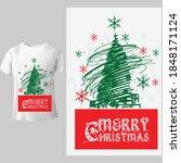 merry christmas celebrate his... | Shutterstock .eps vector #1848171124