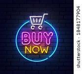 buy now neon sign. glowing neon ...   Shutterstock .eps vector #1848177904