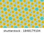 top view daisy texture... | Shutterstock . vector #1848179104