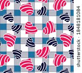 hearts pattern on checkered... | Shutterstock .eps vector #1848181084