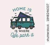 camping adventure logo emblem... | Shutterstock .eps vector #1848246337