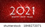2021 happy new year. silver... | Shutterstock .eps vector #1848272071