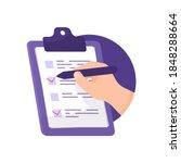the concept of a poll  survey ...   Shutterstock .eps vector #1848288664