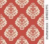 vector damask wallpaper. design ... | Shutterstock .eps vector #184831991