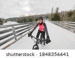 Winter Bike Sport Fun Happy...