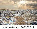 Garbage Dump Pile In Trash Dump ...