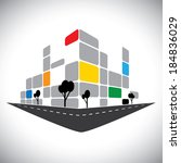 vector icon   commercial office ... | Shutterstock .eps vector #184836029