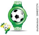 brazil soccer football green...   Shutterstock .eps vector #184837274