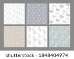 set of vector christmas... | Shutterstock .eps vector #1848404974