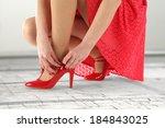 red skirt  | Shutterstock . vector #184843025