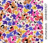 bright floral seamless pattern. ... | Shutterstock .eps vector #1848485527