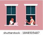 lockdown. quarantine life....   Shutterstock .eps vector #1848505687