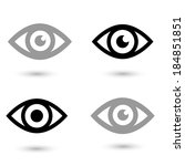eye icon vector 10 | Shutterstock .eps vector #184851851