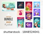 set of merry christmas and... | Shutterstock .eps vector #1848524041