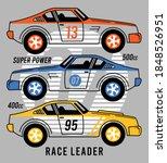 racing car  boys graphic tees... | Shutterstock .eps vector #1848526951