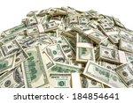Dollar Banknotes Heap   Studio...