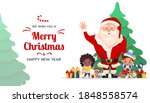 merry christmas and happy new... | Shutterstock .eps vector #1848558574