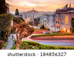 Famous Lombard Street In San...