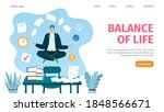 work and life balance web... | Shutterstock .eps vector #1848566671