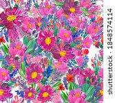 Seamless Pattern With Beautiful ...