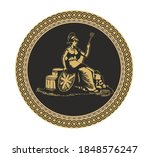 ancient roman and greek coin...   Shutterstock .eps vector #1848576247