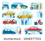car service  mechanic and auto... | Shutterstock .eps vector #1848577531