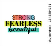 strong  fearless  beautiful ... | Shutterstock .eps vector #1848584191