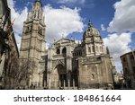 Toledo Cathedral Facade ...