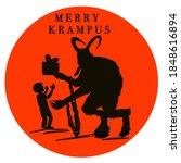 Krampus. Scary Krampus. Horned...
