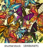 Seamless Pattern With Colorful...