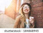 Cheerful Woman In The Street...