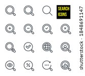 Search Line Icons Stock...