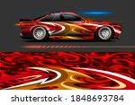 vehicle vinyl wrap design with...   Shutterstock .eps vector #1848693784