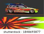 vehicle vinyl wrap design with...   Shutterstock .eps vector #1848693877