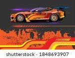 vehicle vinyl wrap design with...   Shutterstock .eps vector #1848693907
