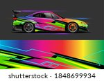 car livery design with sporty... | Shutterstock .eps vector #1848699934