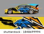 car livery design with sporty...   Shutterstock .eps vector #1848699994