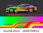 car livery design with sporty... | Shutterstock .eps vector #1848700021
