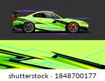 car livery design with sporty... | Shutterstock .eps vector #1848700177