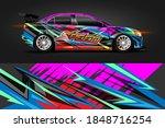 vehicle wrap and vinyl sticker... | Shutterstock .eps vector #1848716254