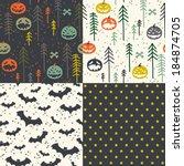 four seamless patterns.... | Shutterstock .eps vector #184874705