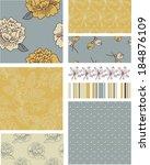 modern blossom floral vector... | Shutterstock .eps vector #184876109