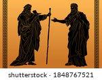 Two Elders In Ancient Greek...