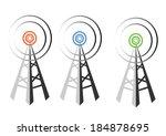 vector design of radio tower...   Shutterstock .eps vector #184878695
