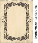 vector vertical vintage marine... | Shutterstock .eps vector #184878701
