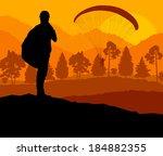 paragliding vector background... | Shutterstock .eps vector #184882355