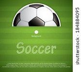 soccer ball background.vector | Shutterstock .eps vector #184884095