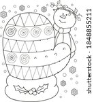 coloring page outline of the... | Shutterstock .eps vector #1848855211